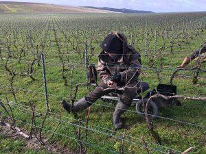 Région Grand Est : échauffement et validation des acquis sur le terrain pour les salariés du champagne Bollinger